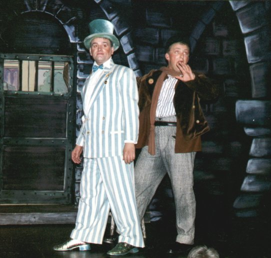 Barry as Otto and Andy Oulton as Hans Andersen